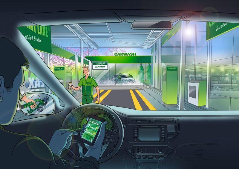 Visual comfort lane carwash